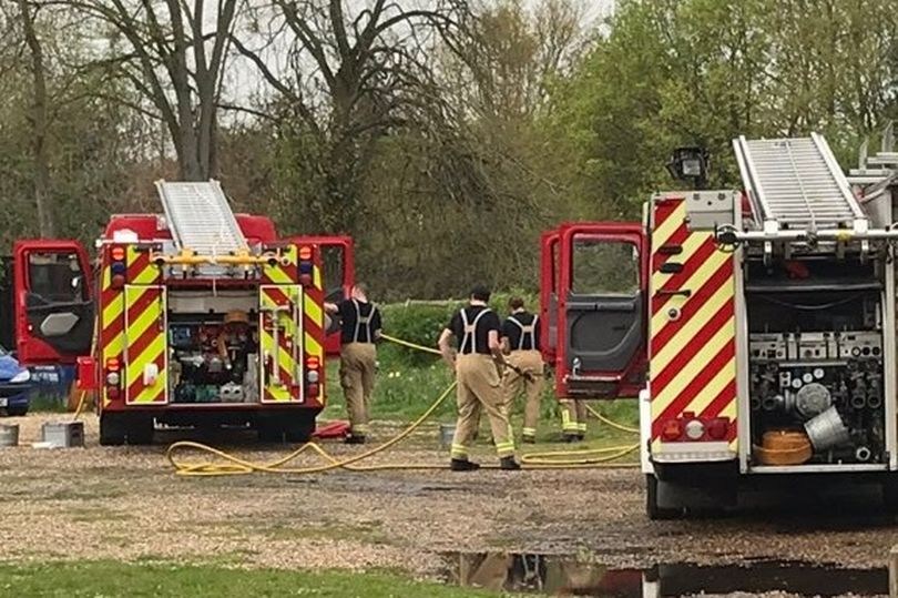 Firefighters at the Grade II listed building in the picturesque South Bucks village of Dorney
