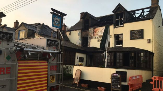 Significant damage has been caused by the fire