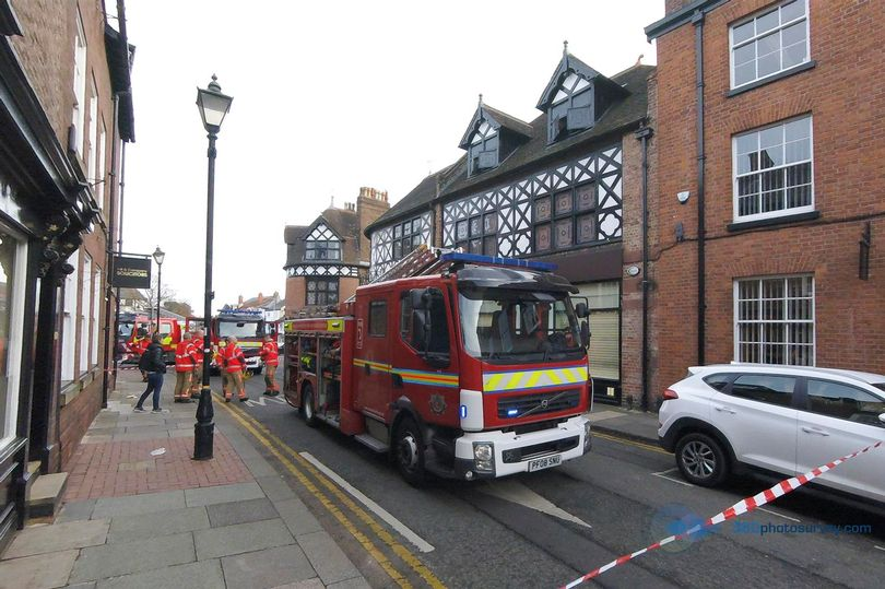 Market Street, in the town centre, was sealed off in both directions while crews attended