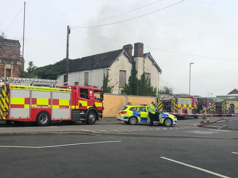 Firefighters battling a blaze at a derelict building in Stourport. (Photo: Manda Wright)