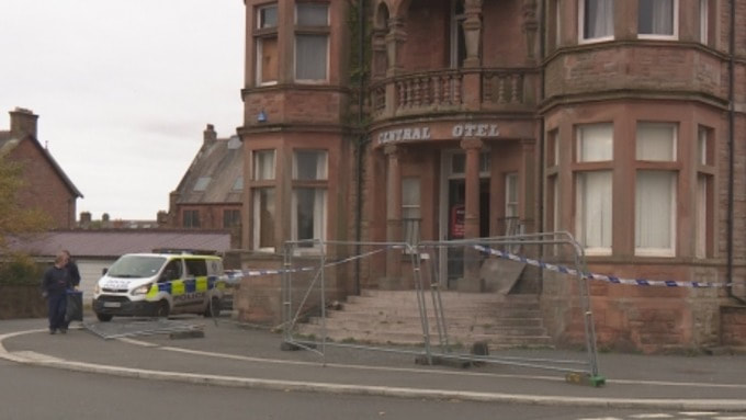 Emergency services were called to the Central Hotel to find the empty building on fire.