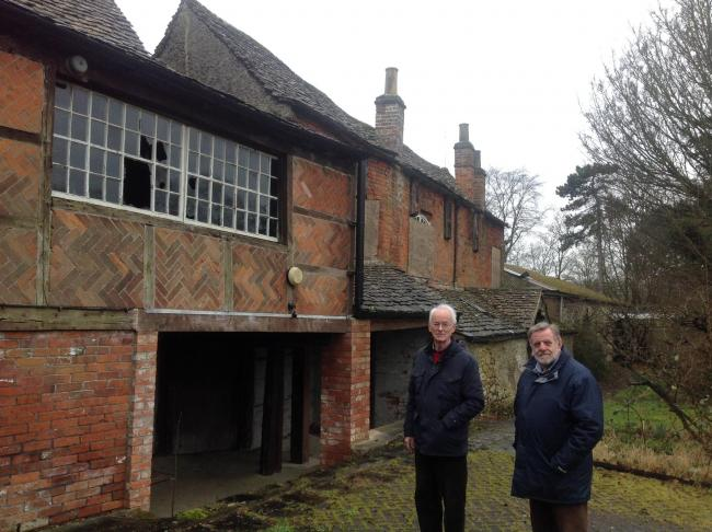 Trowbridge councillors Glyn Bridges and Graham Payne not happy at the state of Courtfield House.