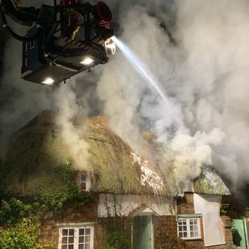 Firefighters from across Dorset were brought in to tackle the fire