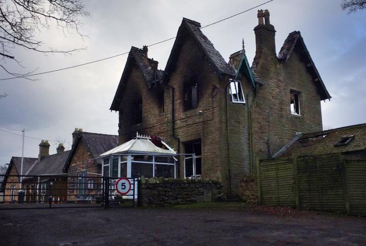 The old stationmaster's house, which was built in 1868, has been completely gutted in the blaze