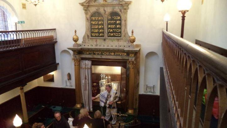 The inside of Exeter Synagogue