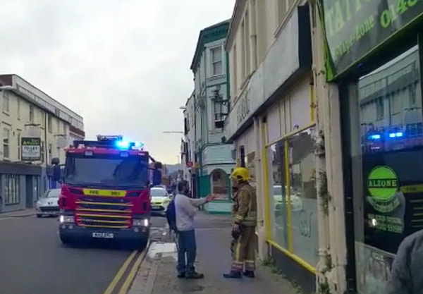 Two fire engines were called to a report of a flat fire on Eastgate Street at 12.30pm this afternoon