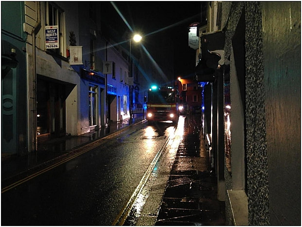Firefighters attend a small fire at JD Wetherspoons, Haverfordwest.
