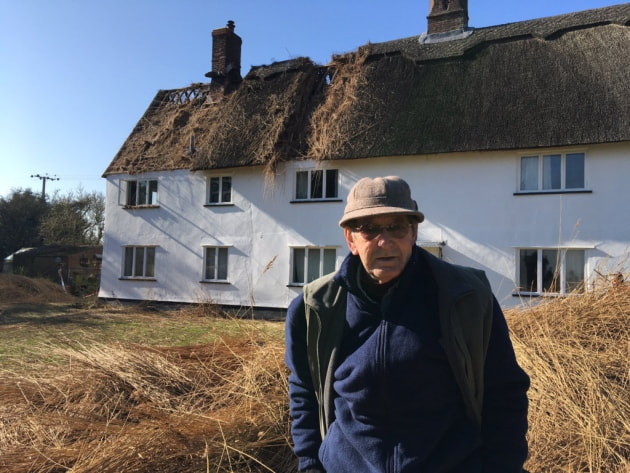 Richard Key, 76, outside his farmhouse in Mundham
