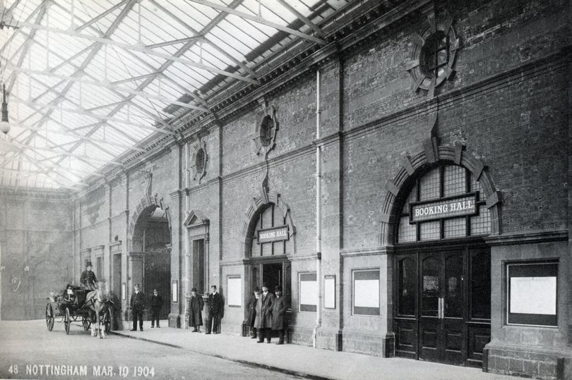 Nottingham Midland Station in 1904, the year it opened.