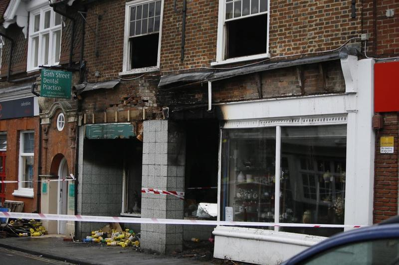 The Abingdon Charity Shop is gutted after the fire.
