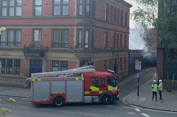 Fire crews at the scene (Image: Ady Hughes)