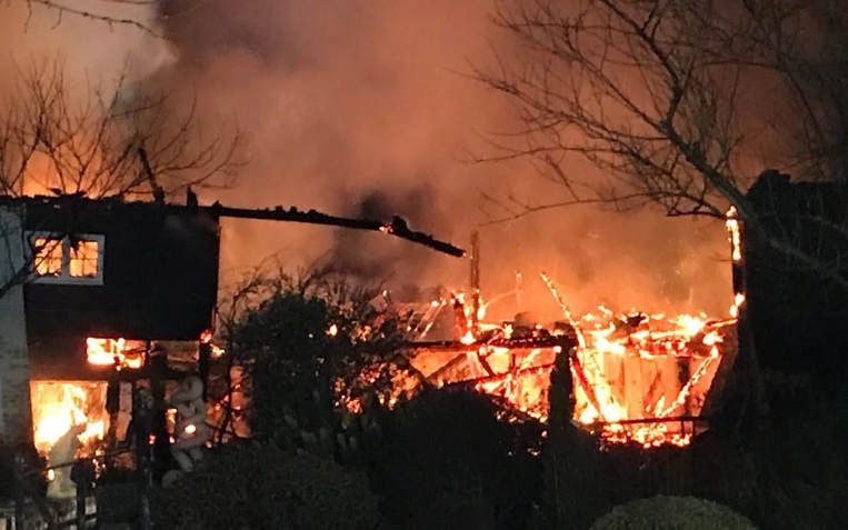 Bere Mill destroyed by fire