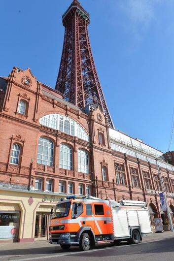 The fire service in attendance at Blackpool Tower.