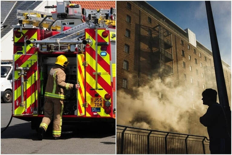Firefighters have been called to tackle the blaze in Anderson Place