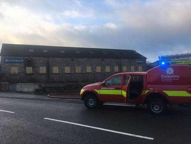 Firefighters have been tackling a blaze in Ripley