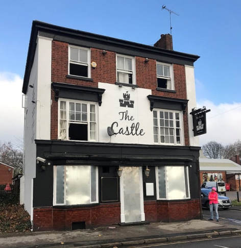 A severe fire at the Castle pub in Willenhall has caused major damage inside the building.