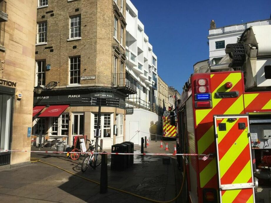 There were reports of smoke coming from the roof of Franco Manca