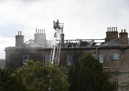 The B listed club house has been extensively damaged