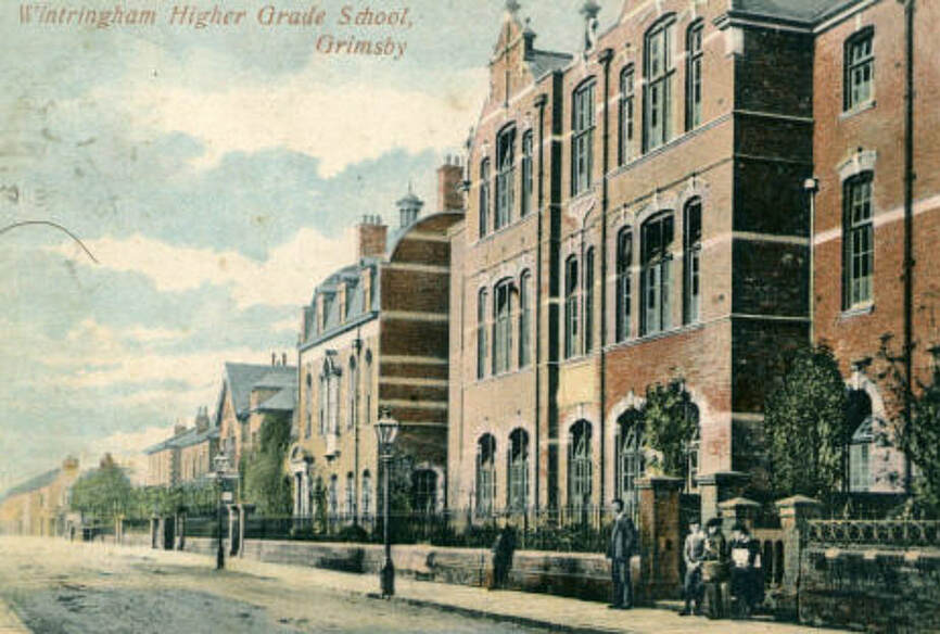 A 1920s postcard showing the three buildings in their glory days.