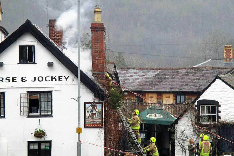 Fire at the Horse and Jockey, Knighton