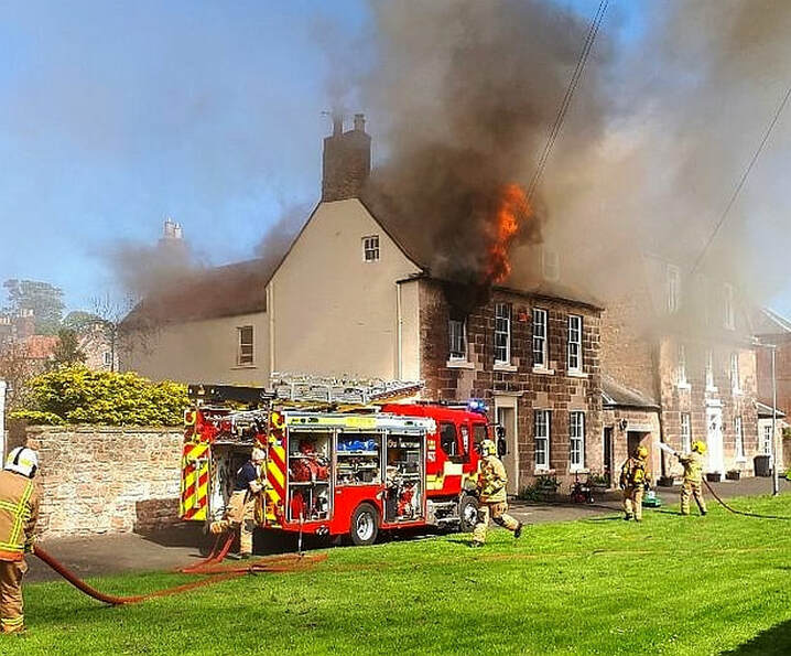 Fire at a house in The Avenue, Berwick (Image: John Haswell)