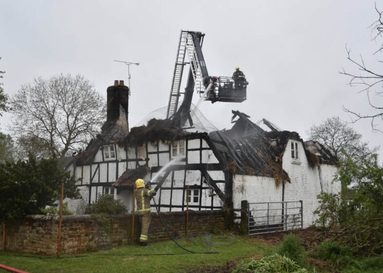The 17th century cottage known as The Homestead has suffered significant damage. (Credit Estelle Legg)