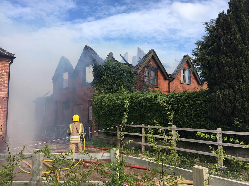 The fire in Needwood (Image: Staffordshire Fire and Rescue Service)