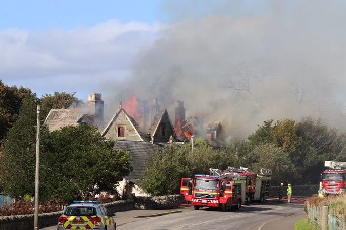 The fire started on Tuesday afternoon at the empty Park House