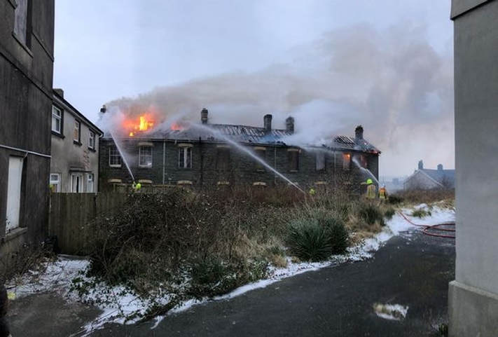 Penlan Workhouse - Firefighters at the scene (Image: Aysha Taylor and Stephen Davies)