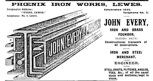 An advertisement for the Phoenix Iron Works
