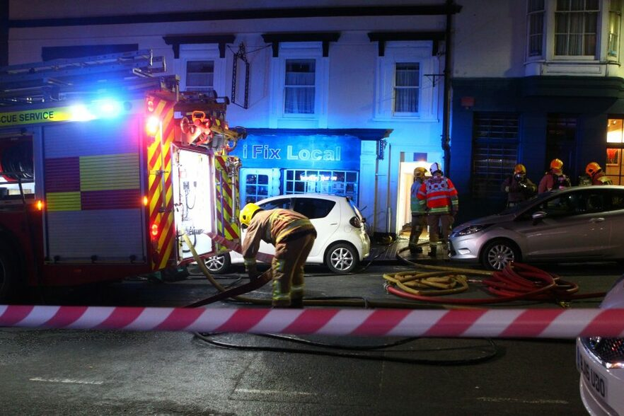 The fire was in a flat above iFix Local in Union Street, Ryde