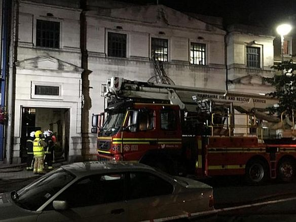 Six fire engines raced to the scene at 9pm after the initial crews arrived to learn that people were inside