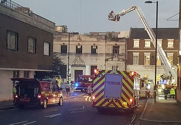 Emergency services were called to the blaze just after 7pm on Wednesday evening.