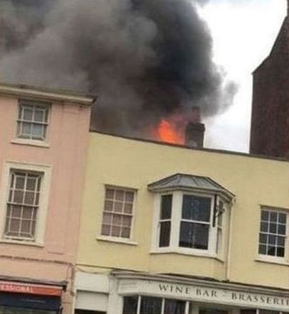 Crews took more than four hours to extinguish the flames at the wine bar in Halstead