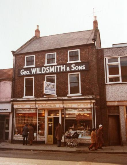 The Wildsmith's grocery shop on Skinnergate when it closed in February 1979