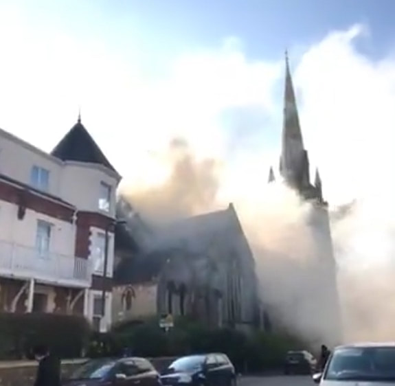 More than 40 firefighters are currently on the scene in Torquay