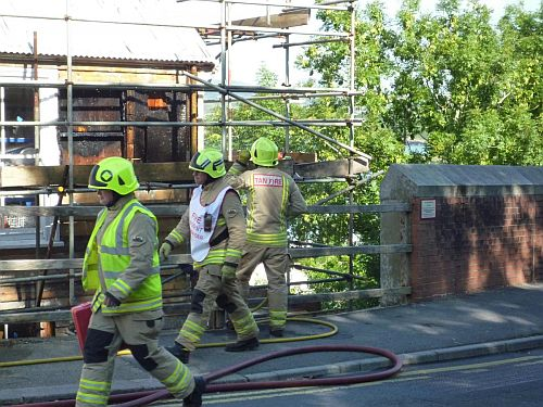 Firefighters at Rosslyn, a Grade II listed building