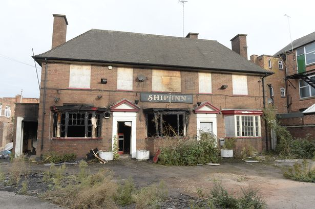 Fire at the derelict Ship Inn in Soar Lane Leicester
