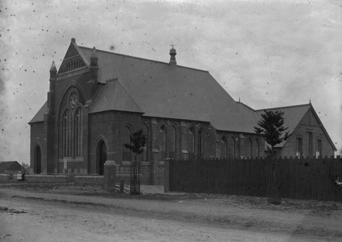 Roman Bank Primitive Methodist Chapel in 1900, soon after it was built.