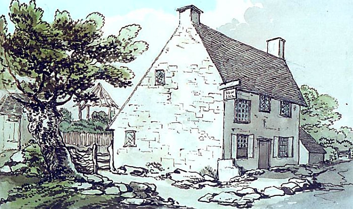 A Painting of the New Inn by Thomas Rowlandson c. 1790