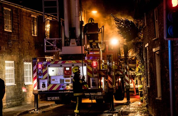 Three fire engines arrived to extinguish the fire on Tuesday evening (December 4)