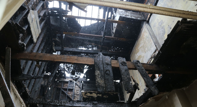 This is the damage caused by the fire at York House. (Image: Greg Martin)